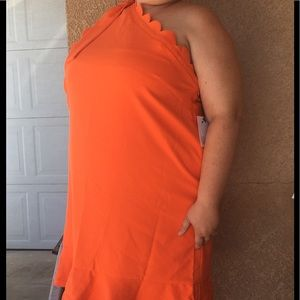 Orange Victoria Beckham Dress NWT